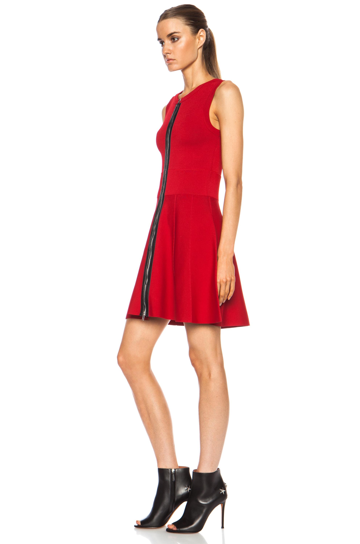 A.L.C. Dolls Rayon-Blend Dress in Deep Red | FWRD