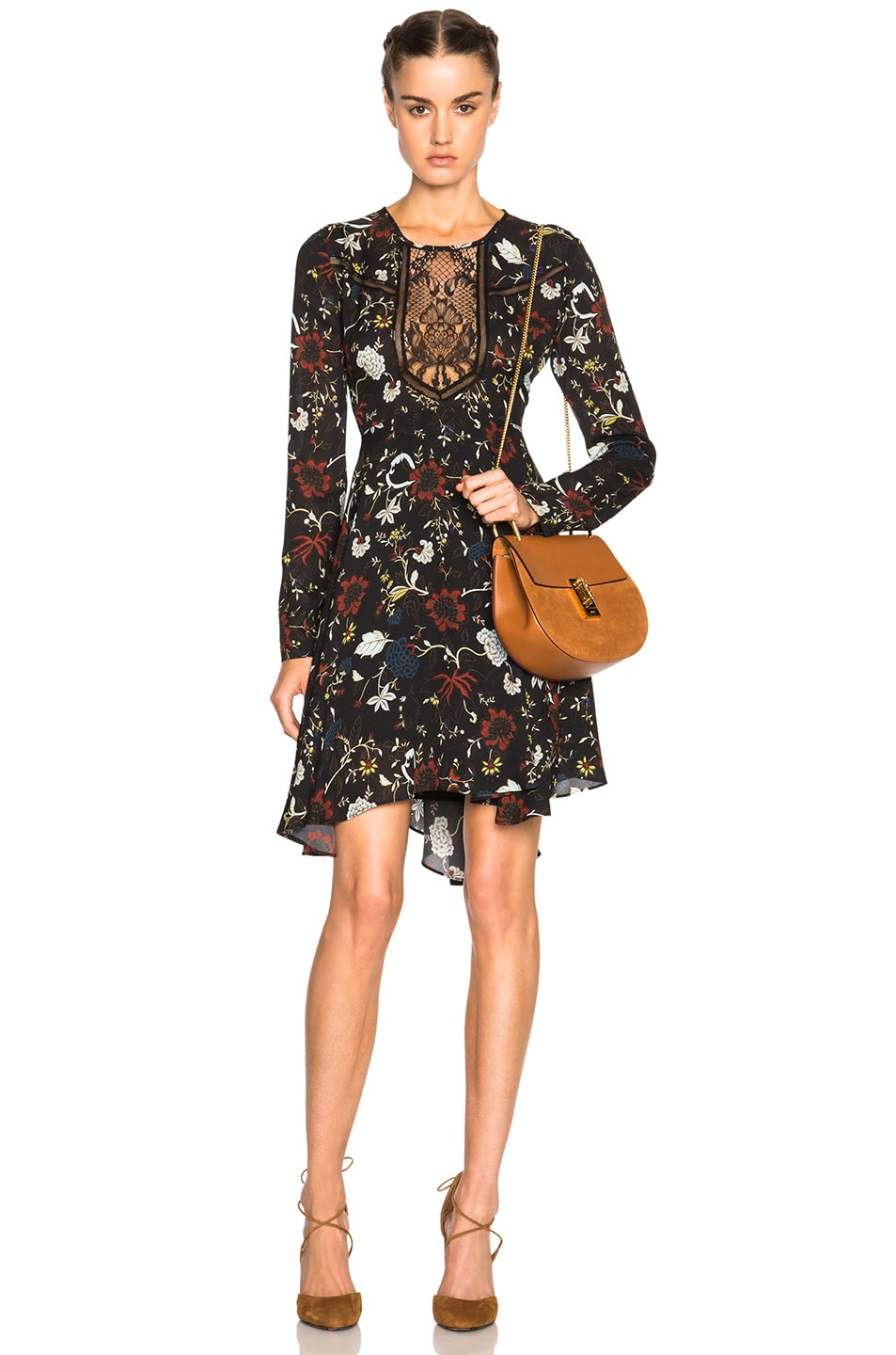 Image 1 of A.L.C. Cynthia Dress in Black Multi