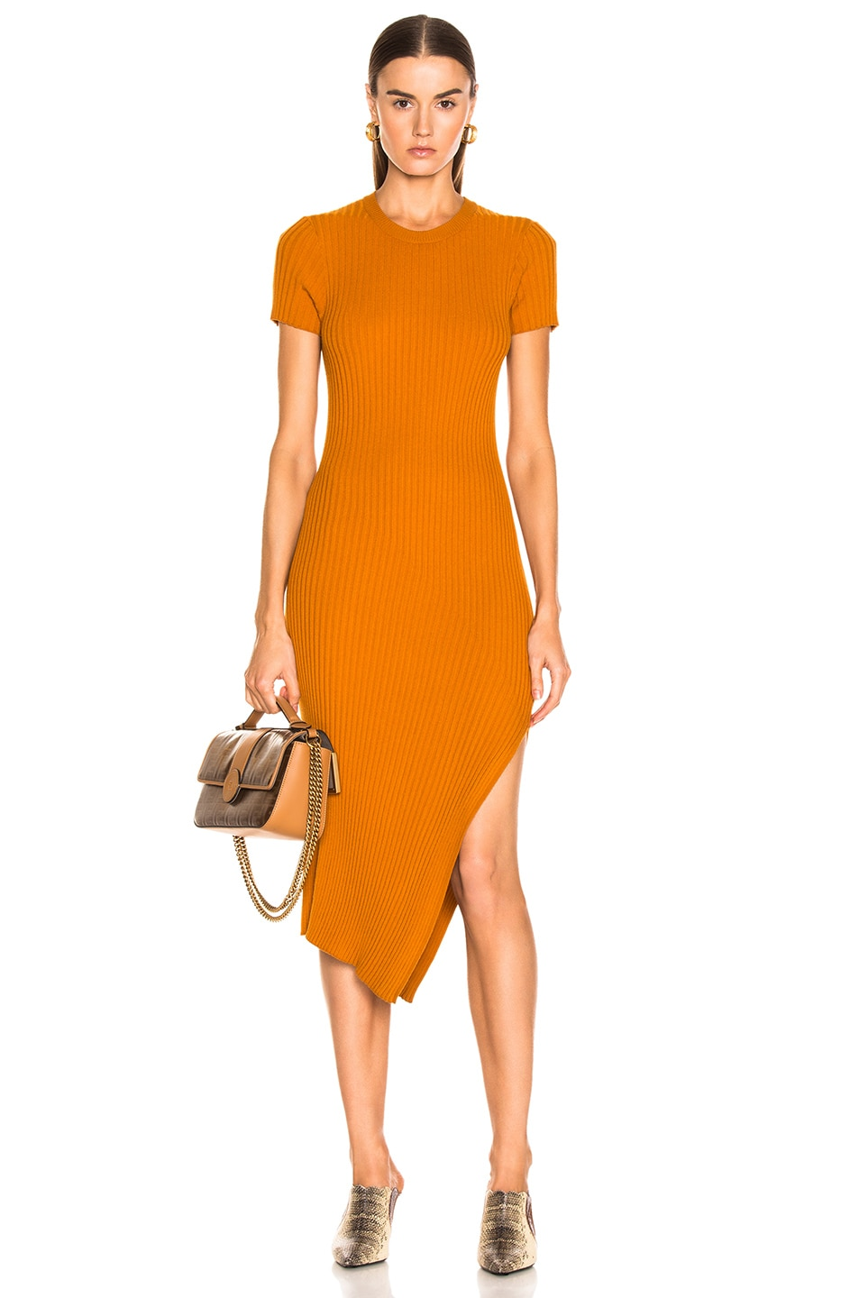 Image 1 of A.L.C. Minetta Dress in Light Honey
