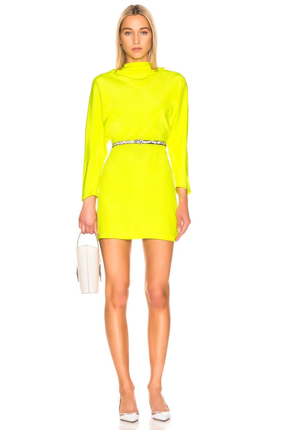 Image 1 of A.L.C. Marin Dress in Neon Yellow