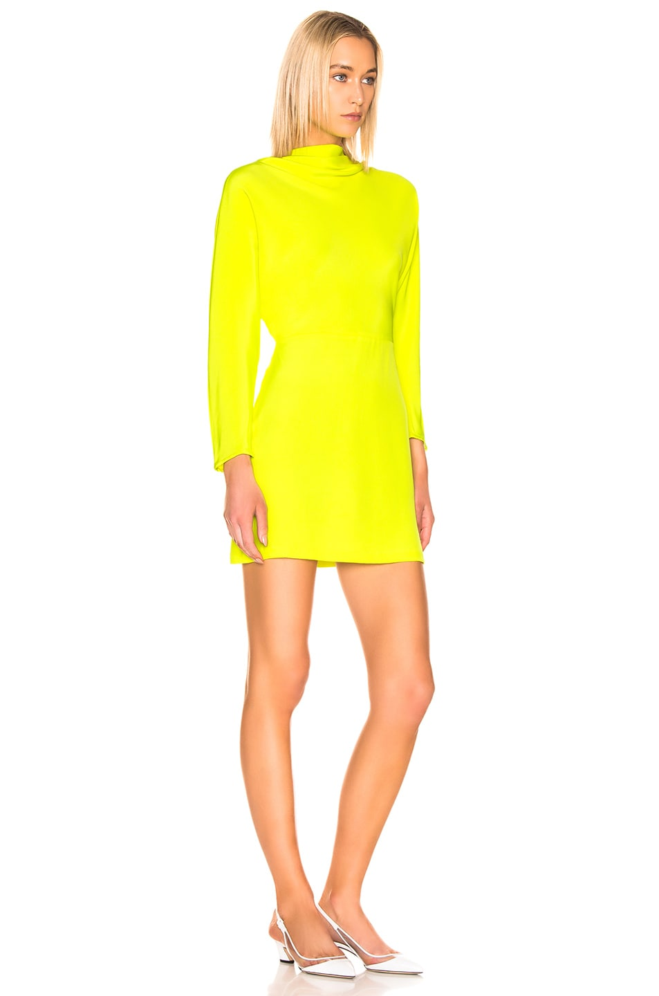 Image 2 of A.L.C. Marin Dress in Neon Yellow