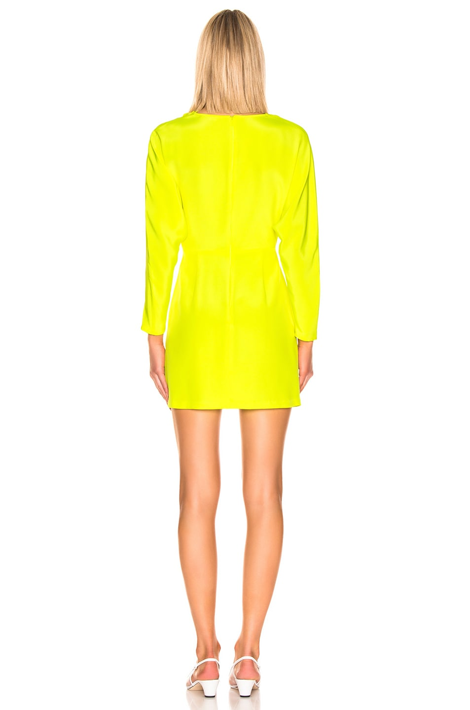 Image 3 of A.L.C. Marin Dress in Neon Yellow