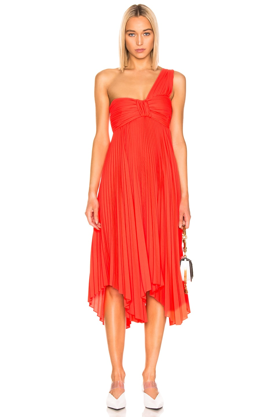 Image 1 of A.L.C. Marbury Dress in Neon Orange