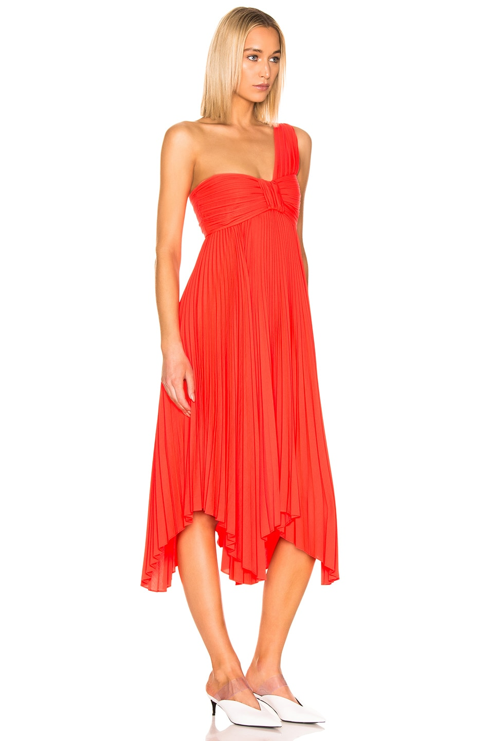Image 2 of A.L.C. Marbury Dress in Neon Orange