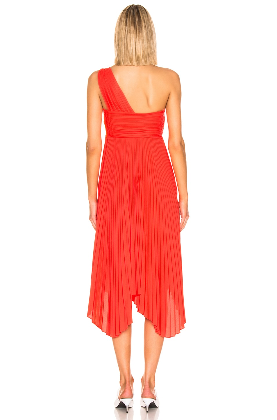 Image 3 of A.L.C. Marbury Dress in Neon Orange
