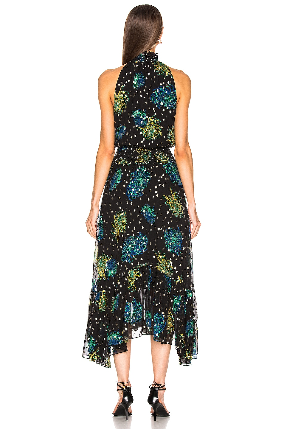 Image 3 of A.L.C. Kaia Dress in Black & Green & Yellow