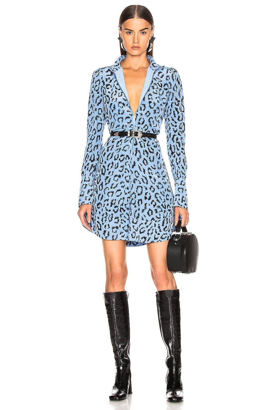 Image 1 of A.L.C. Marcella Dress in Blue & Black