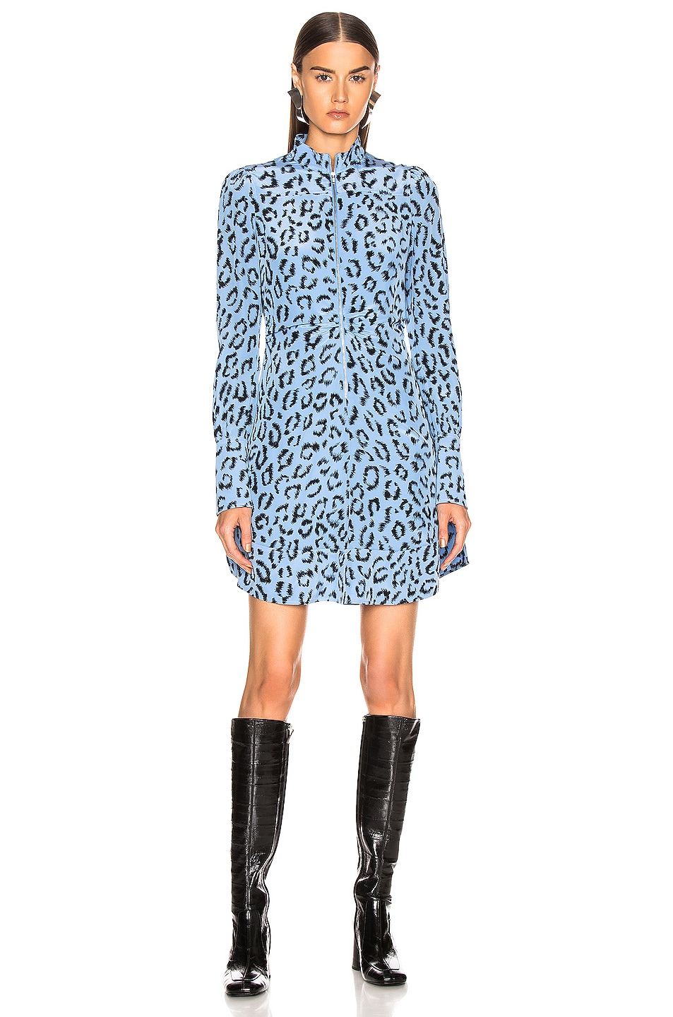 Image 2 of A.L.C. Marcella Dress in Blue & Black