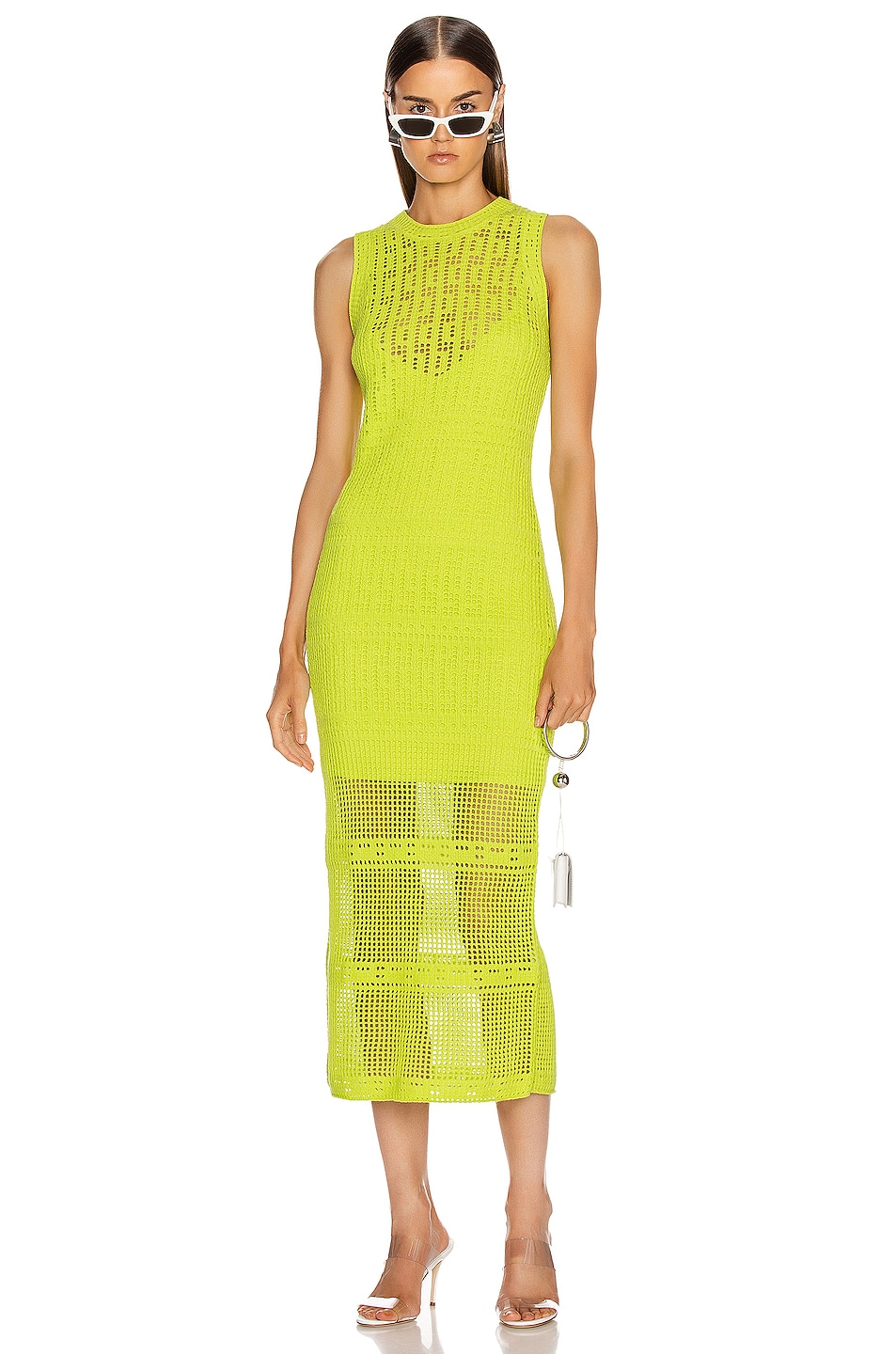 Image 1 of A.L.C. Monaghan Dress in Citronella