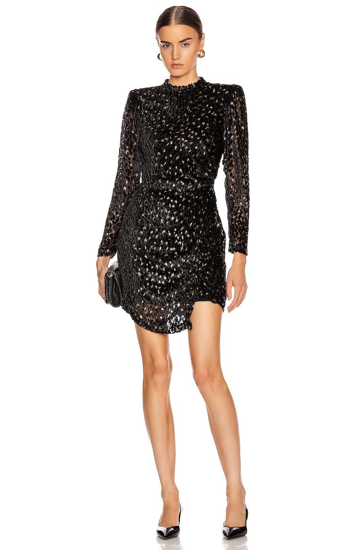 Image 1 of A.L.C. Jane Dress in Black & Gold