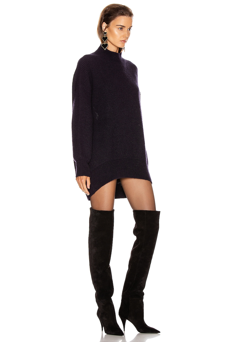 Image 3 of A.L.C. Lafayette Sweater Dress in Midnight