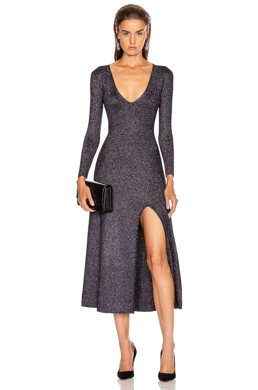 Image 1 of A.L.C. Serafina Dress in Black & Lavender