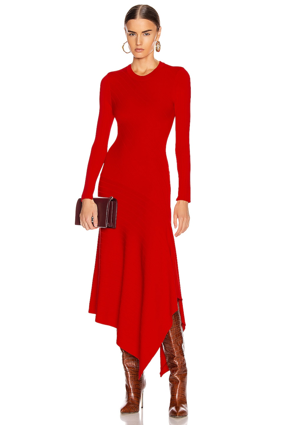 Image 1 of A.L.C. Viviana Dress in Red