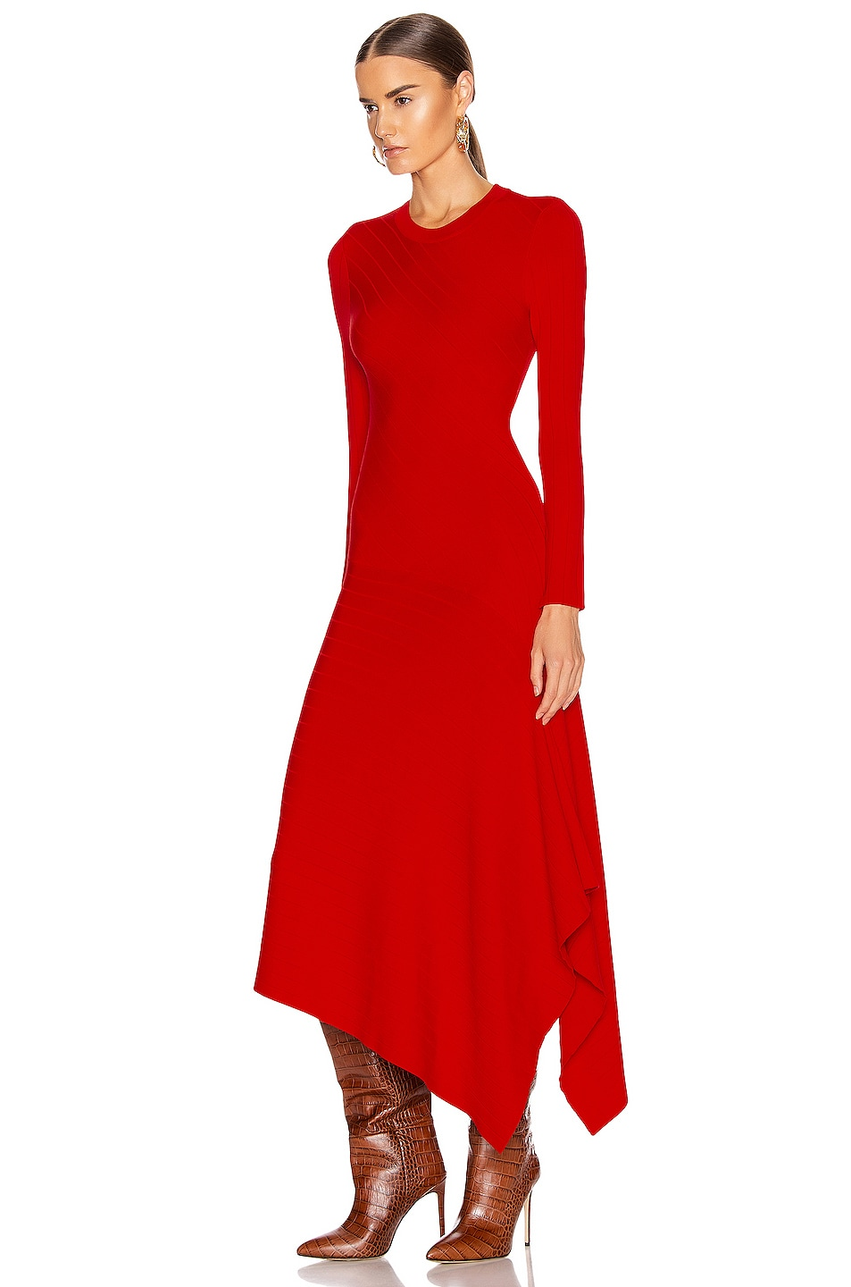 Image 3 of A.L.C. Viviana Dress in Red