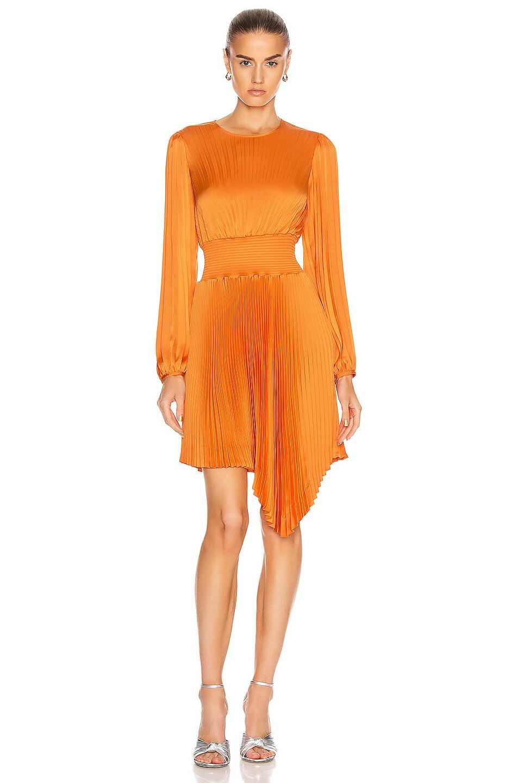Image 1 of A.L.C. Behati Dress in Orange
