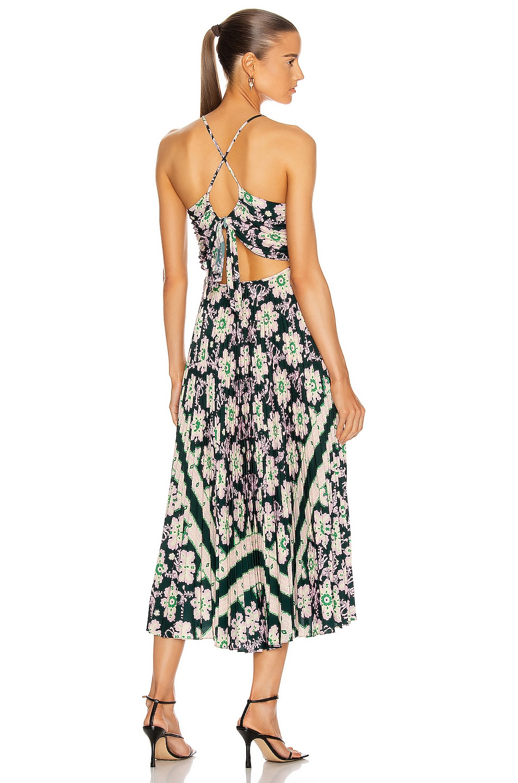 Image 1 of A.L.C. Gemini Dress in Green & Pink