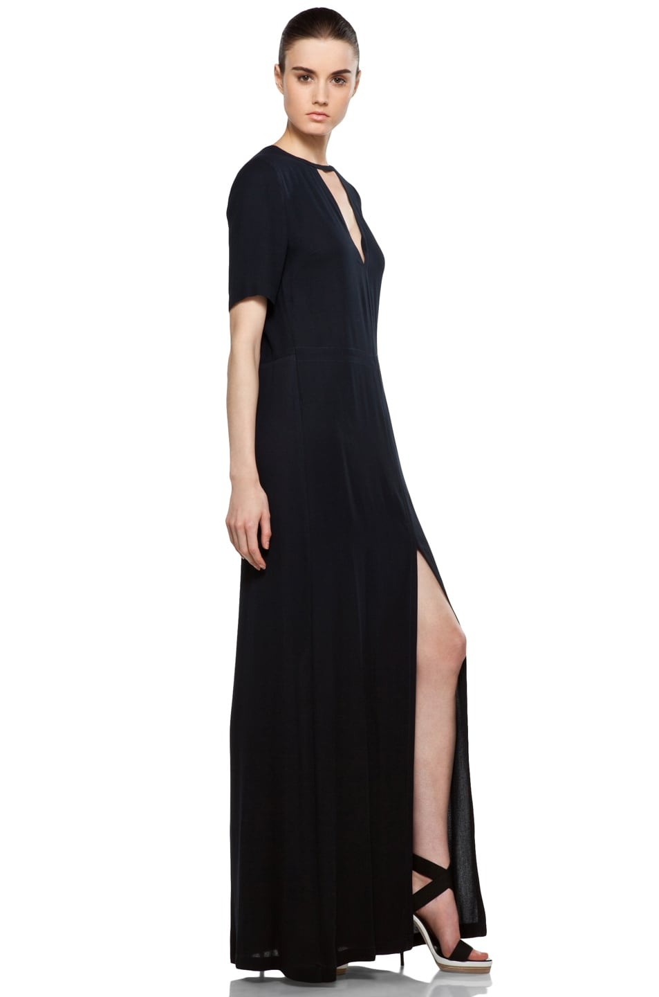Contemporary Xscape Beaded Yoke Ruched Gown Photos - Images for ...