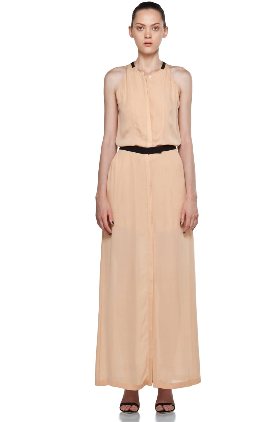 Image 1 of A.L.C. Tux Maxi Dress in Nude