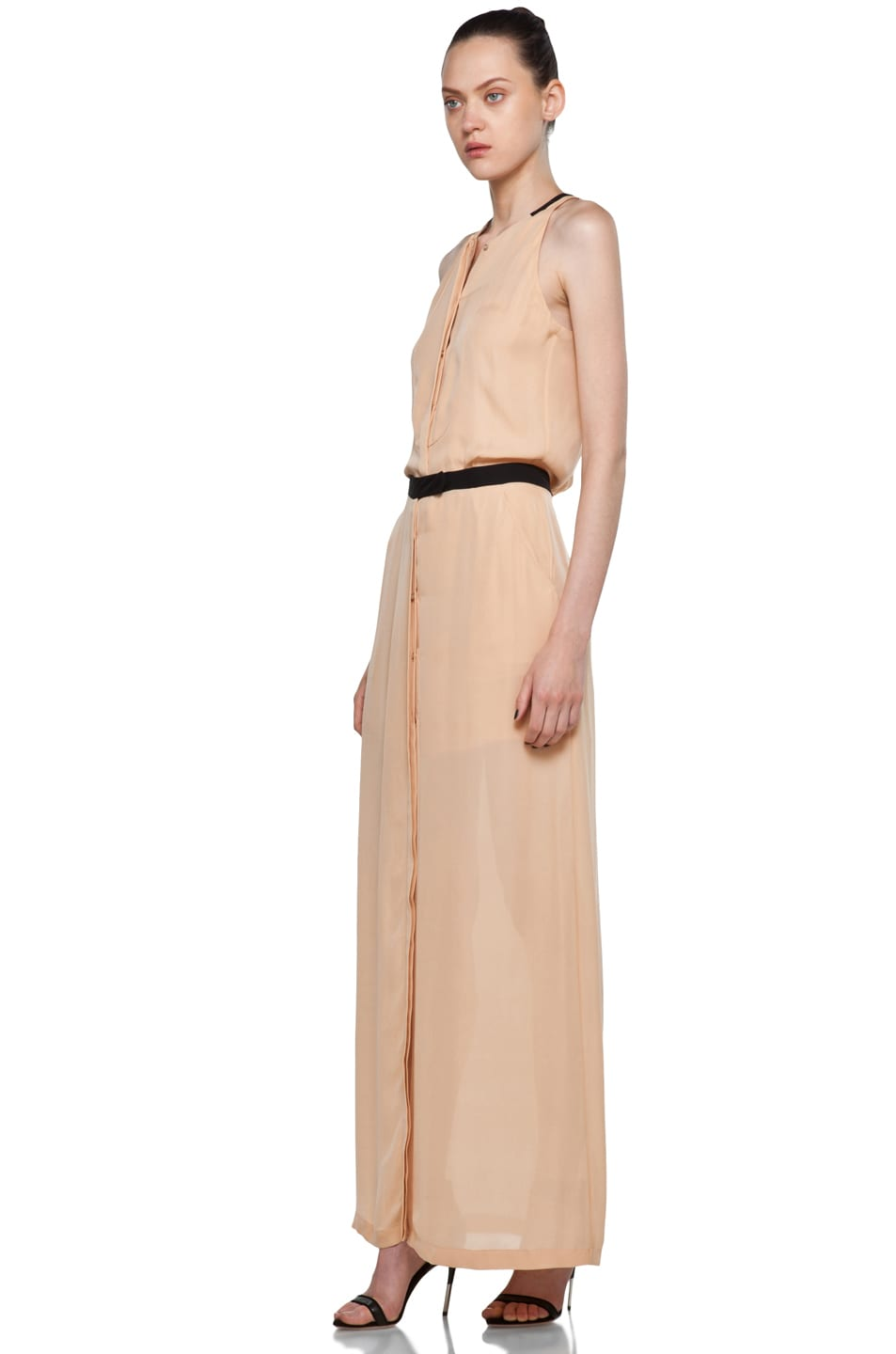 Image 2 of A.L.C. Tux Maxi Dress in Nude