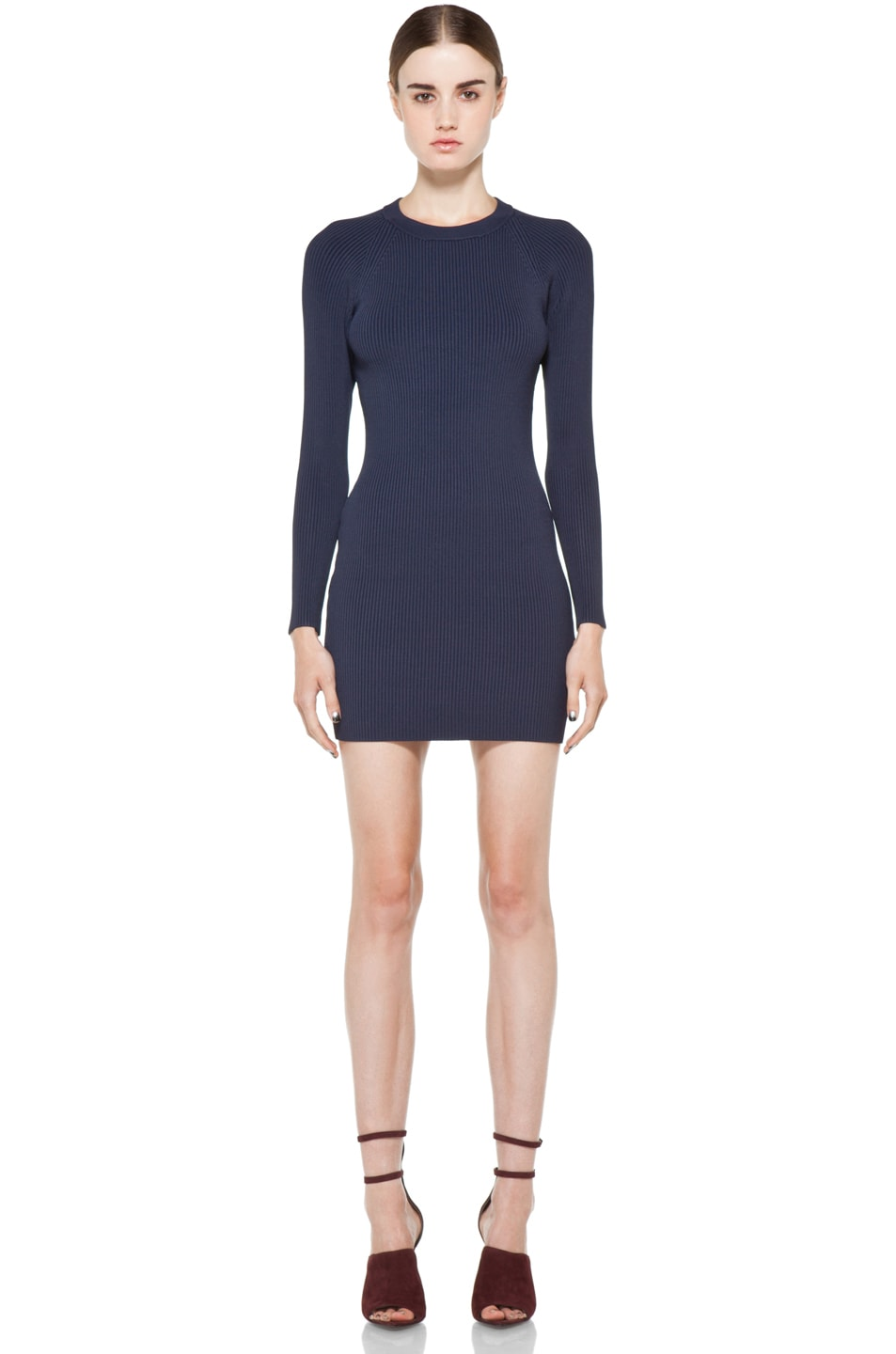 Image 1 of A.L.C. Nick Rib Dress in Navy
