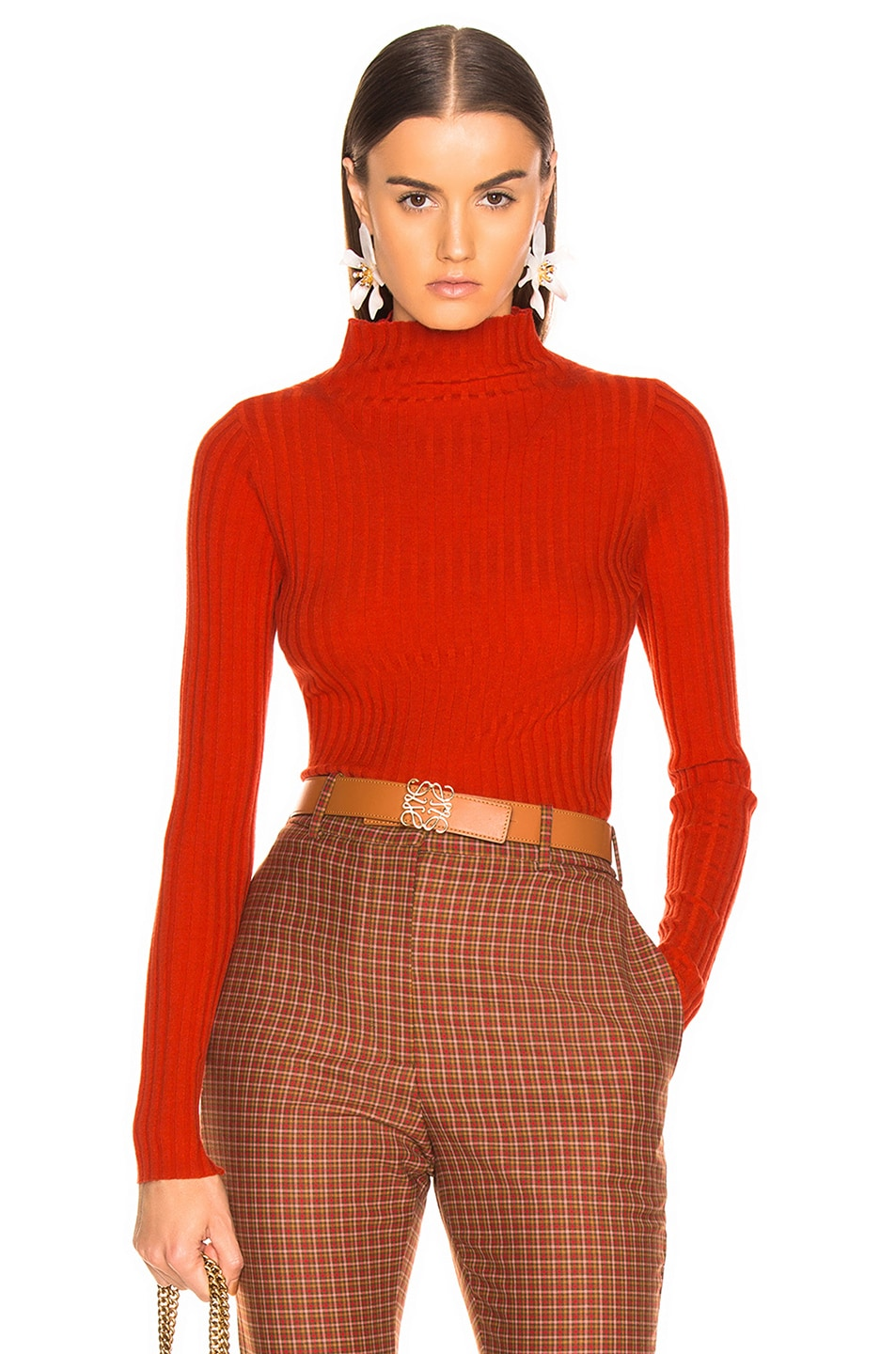 Image 1 of A.L.C. Lamont Sweater in Tangerine