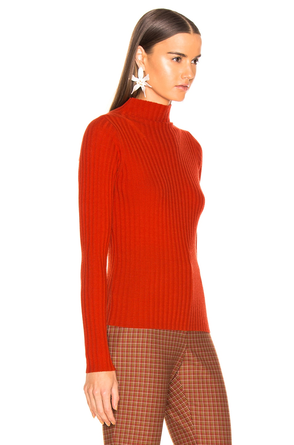 Image 2 of A.L.C. Lamont Sweater in Tangerine