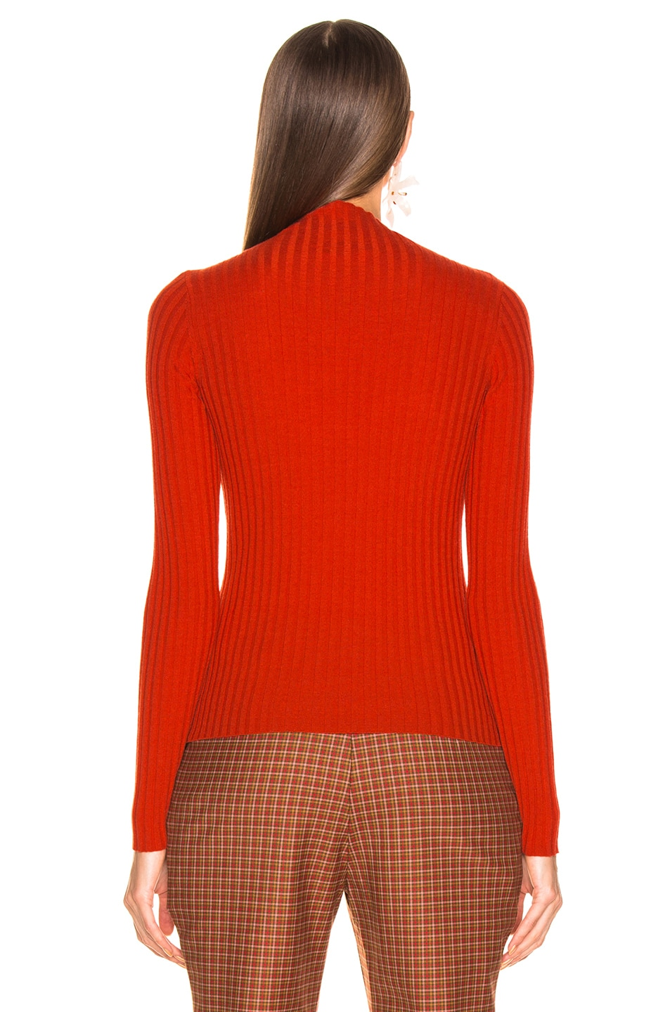Image 3 of A.L.C. Lamont Sweater in Tangerine