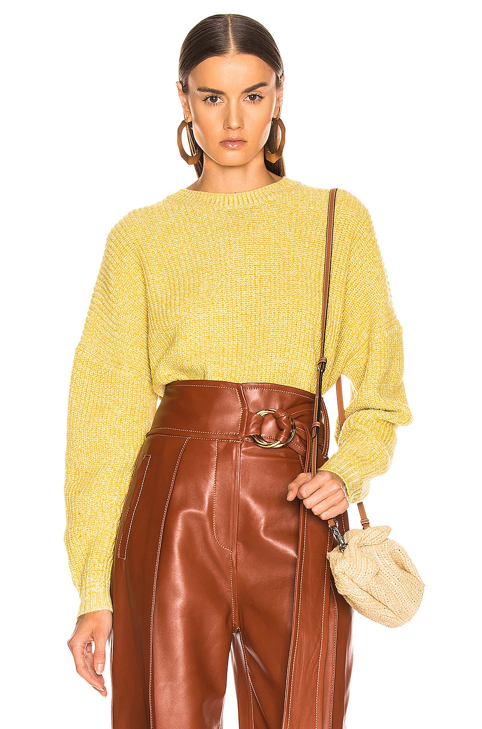 Image 1 of A.L.C. Webster Sweater in Canary & Fog