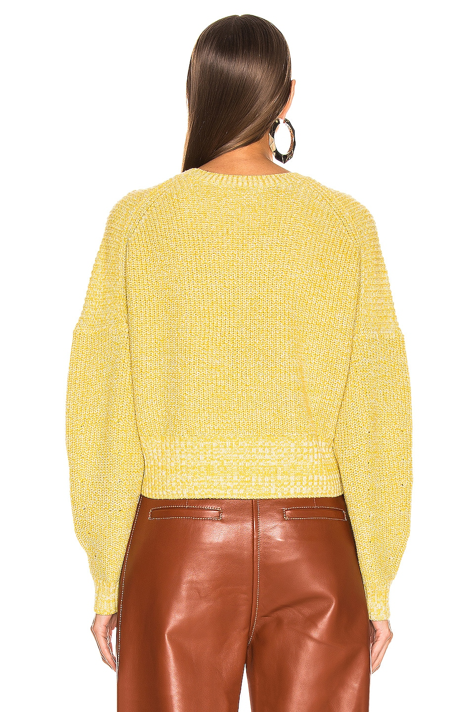 Image 3 of A.L.C. Webster Sweater in Canary & Fog