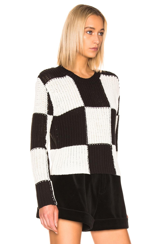 Image 2 of A.L.C. Checkerboard Sweater in Black & White