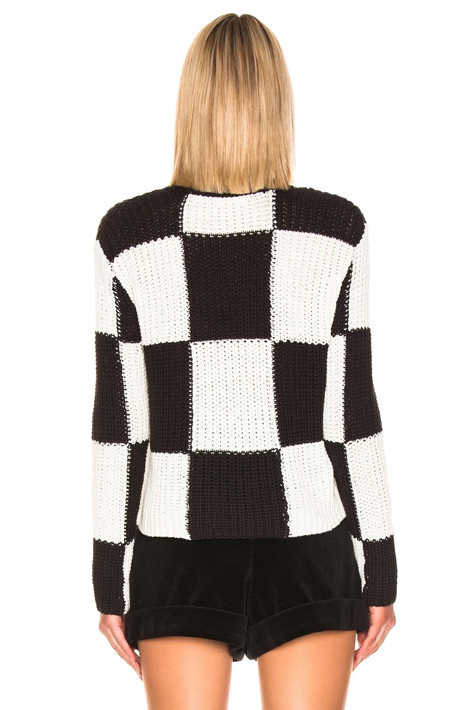 Image 3 of A.L.C. Checkerboard Sweater in Black & White