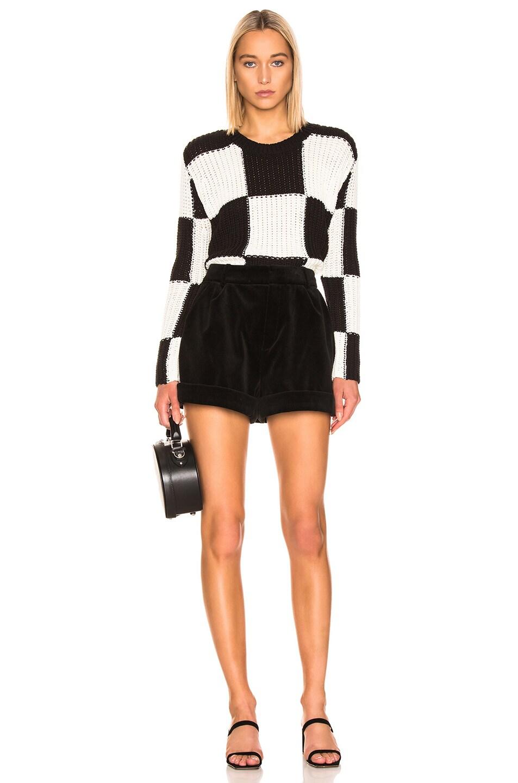 Image 4 of A.L.C. Checkerboard Sweater in Black & White