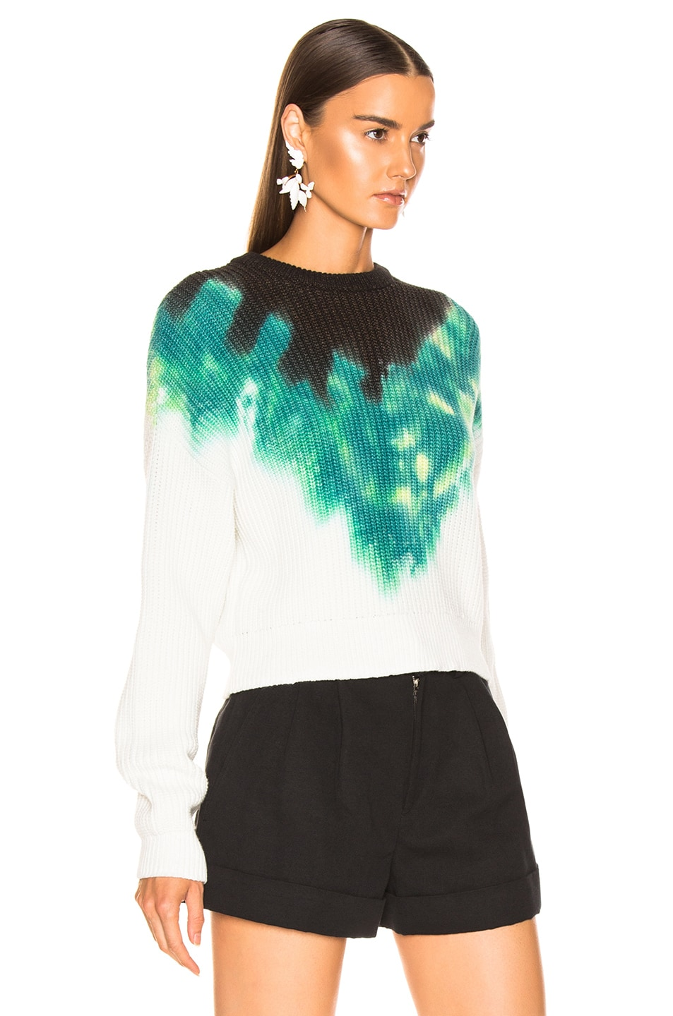 Image 2 of A.L.C. Elinor Pullover Tie Dye in Green & Black