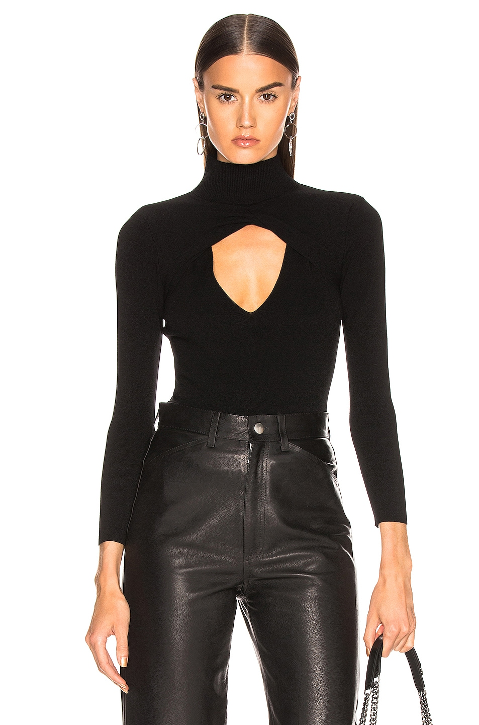 Image 1 of A.L.C. Twist Sweater in Black