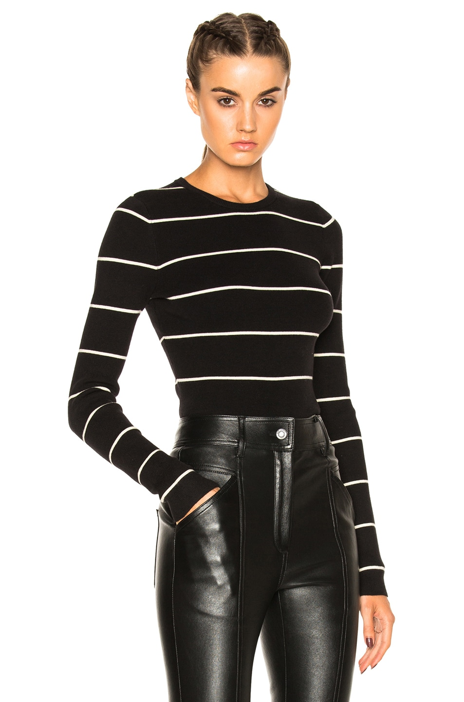 Image 1 of A.L.C. Brooklyn Sweater in Black & Natural