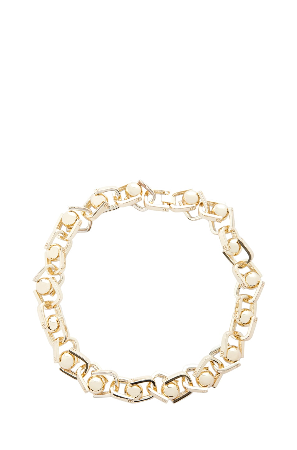 Image 1 of A.L.C. Ball and Chain Necklace in Brass