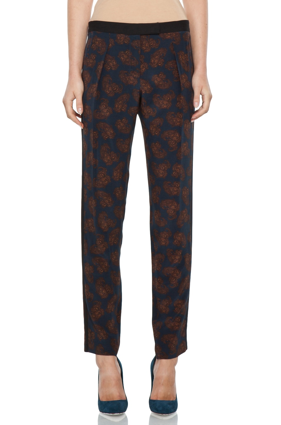 Image 1 of A.L.C. Franco Pant in Navy Paisley