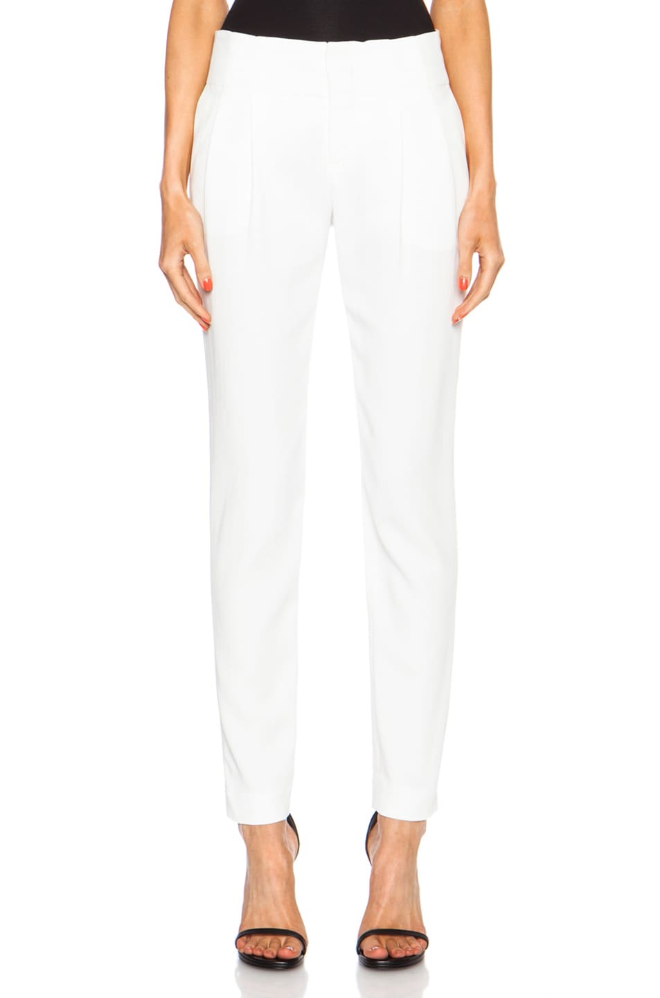 Image 1 of A.L.C. Kinnsley Viscose-Blend Pant in White