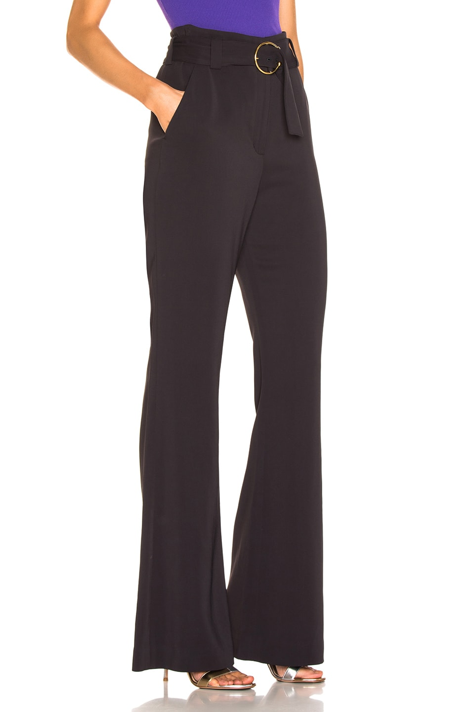 Image 2 of A.L.C. Warner Pant in Dark Navy