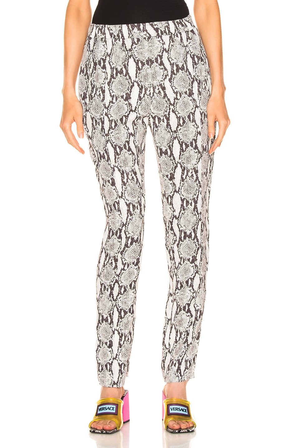 Image 1 of A.L.C. Elijah Snake Print Pant in Nude