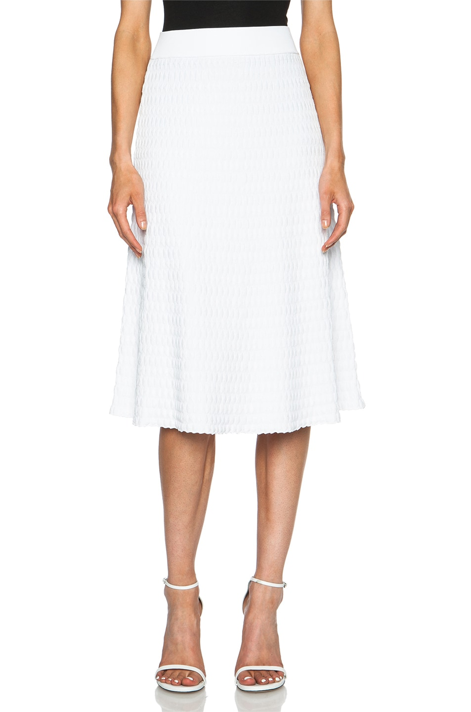 Image 1 of A.L.C. Issa Viscose-Blend Skirt in White