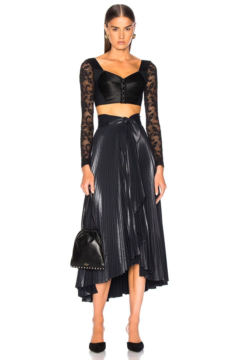Image 4 of A.L.C. Eleanor Skirt in Midnight