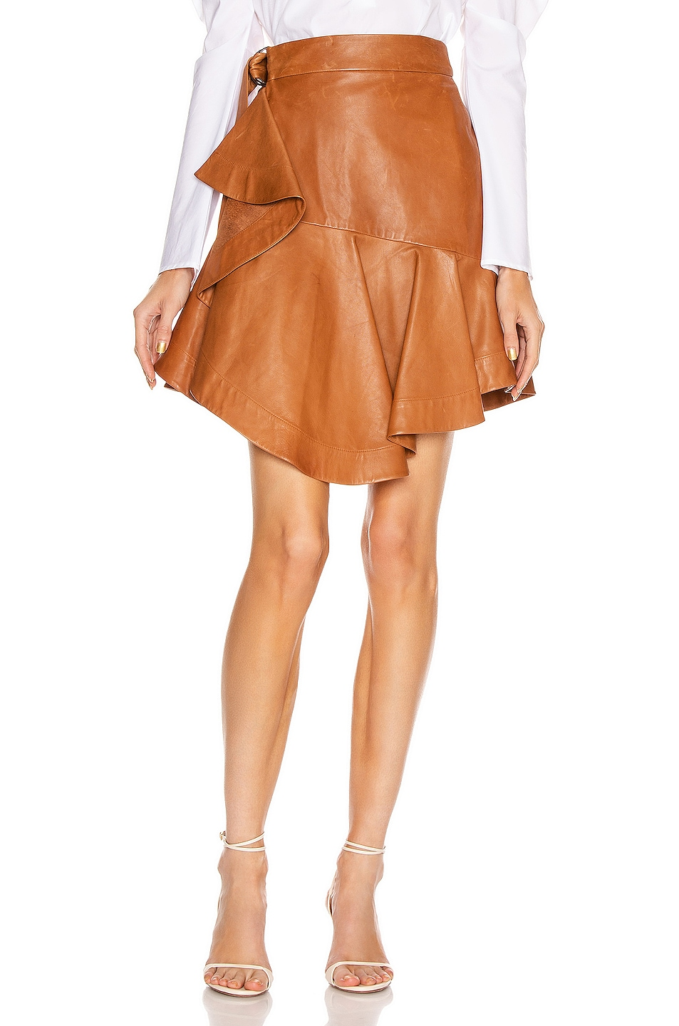 Image 1 of A.L.C. Amalie Skirt in Spiced Rum