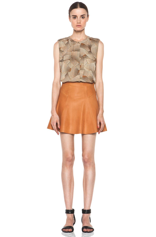 Caramel Leather Skirt - Skirts