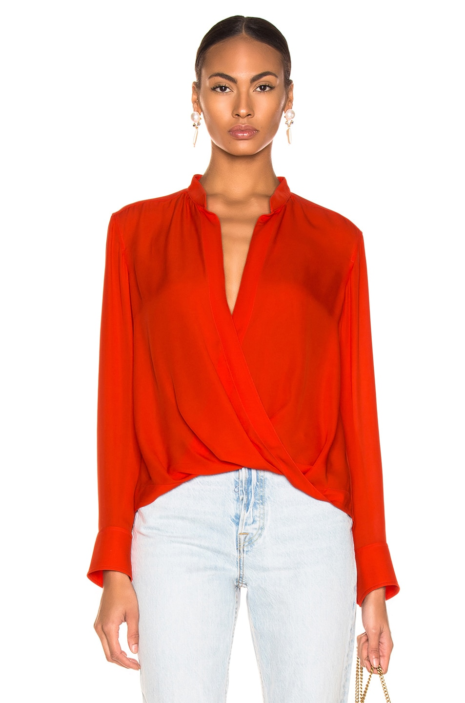 A.l.c Tops A.L.C. LUCA TOP IN ORANGE.