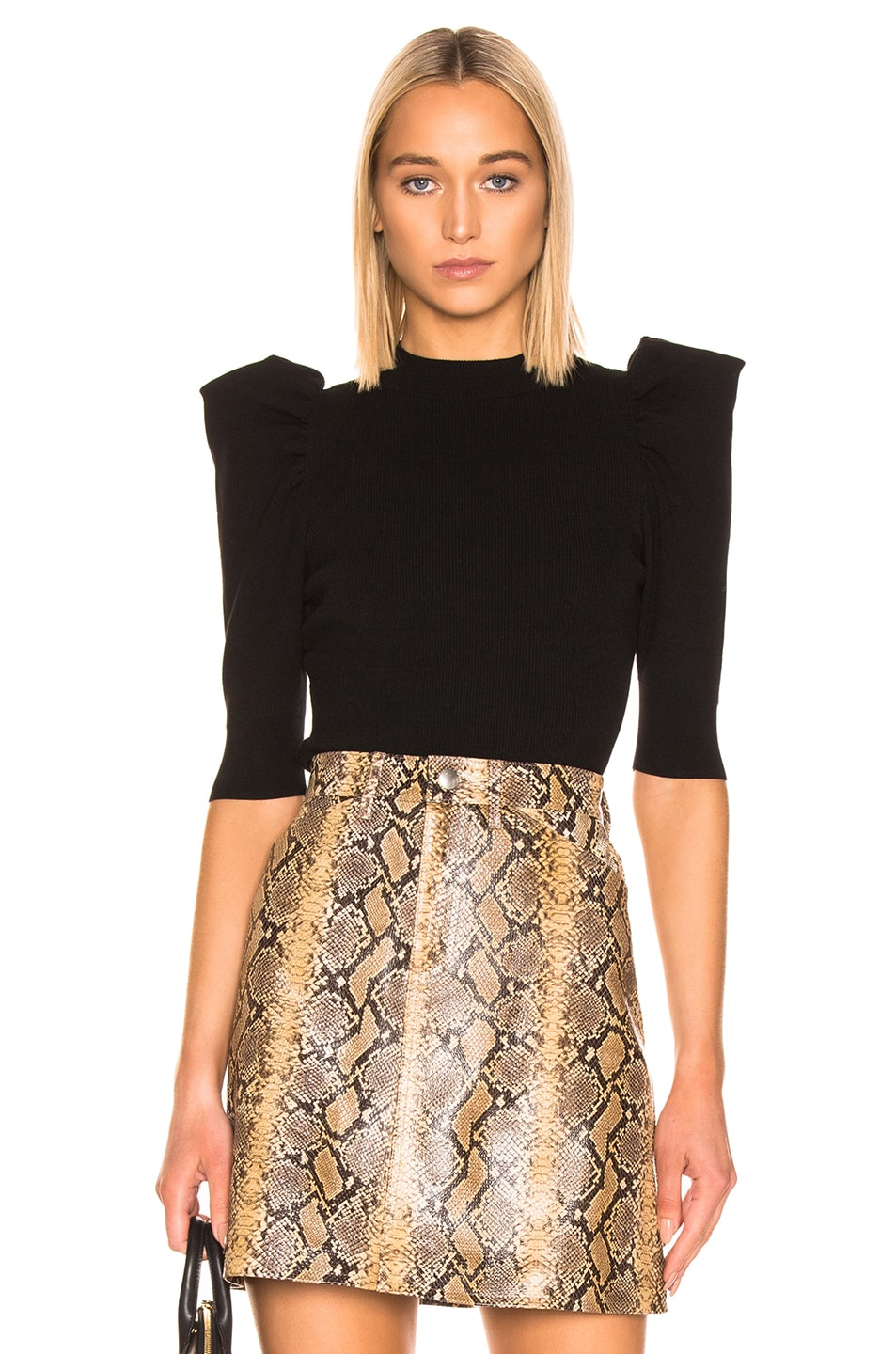 Image 1 of A.L.C. Astor Top in Black