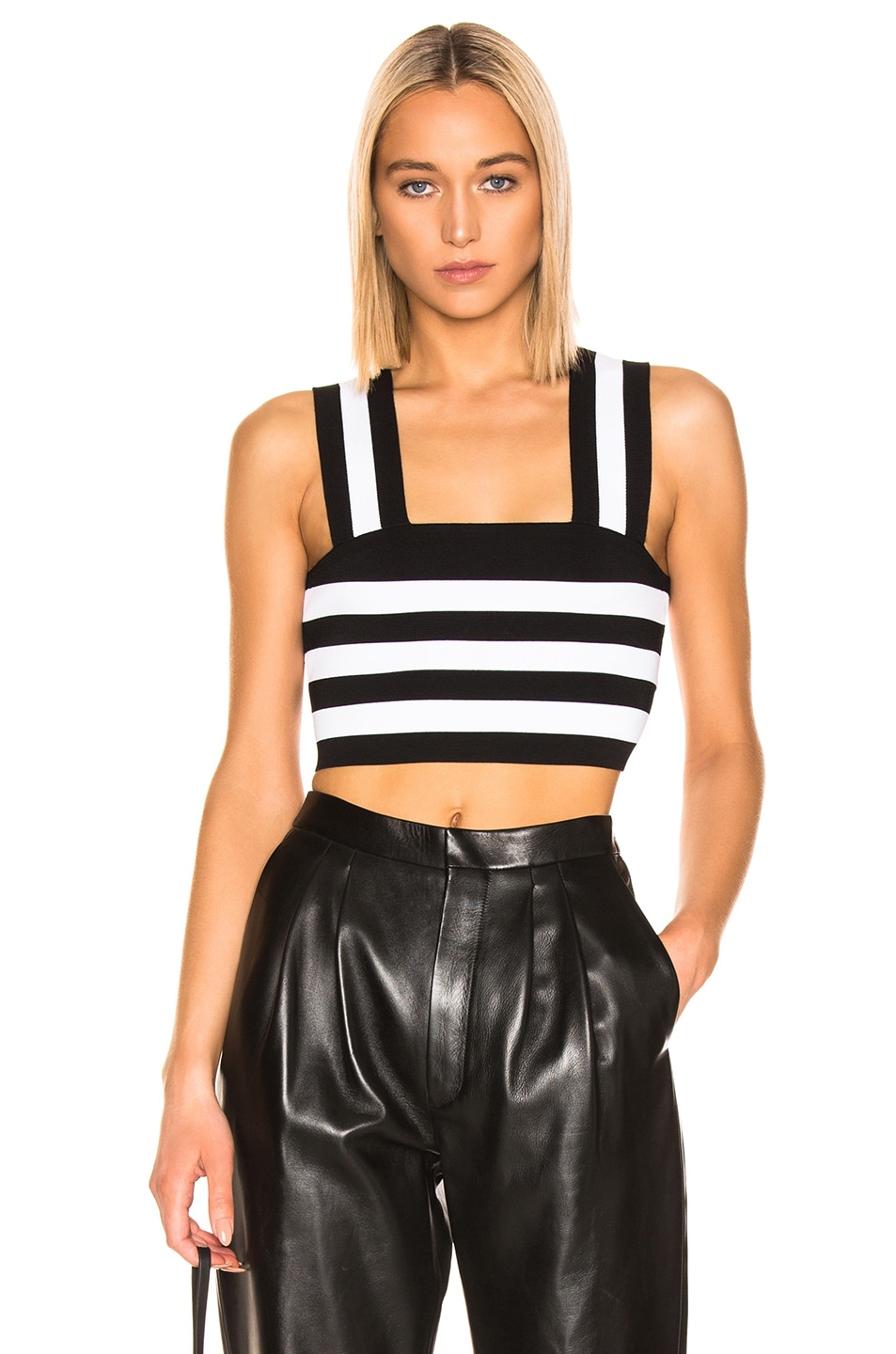 Image 1 of A.L.C. Tia Top in White & Black