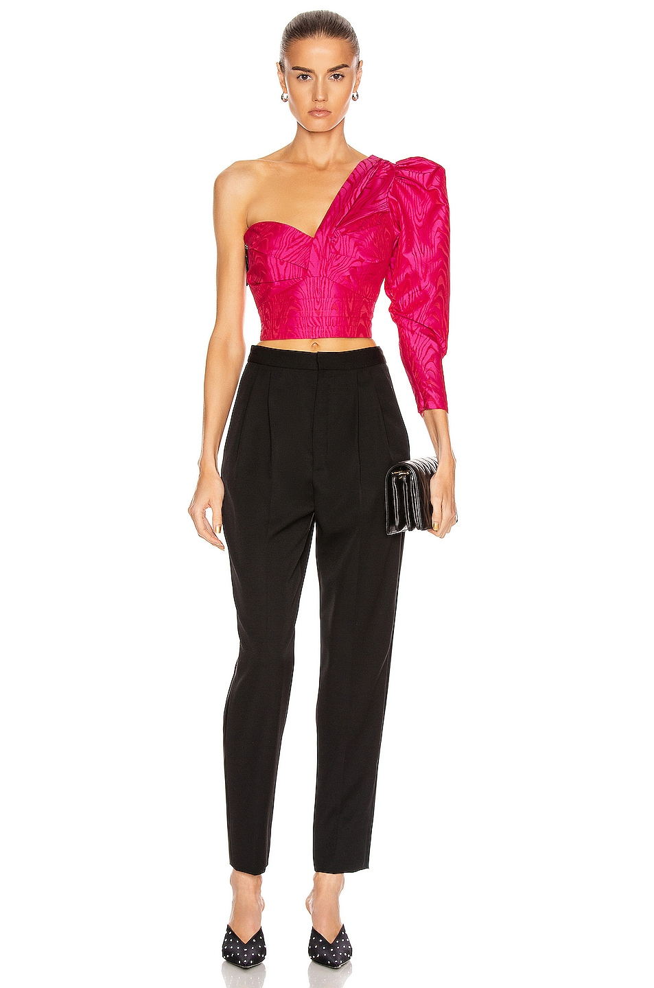 Image 5 of A.L.C. for FWRD Lizzy Top in Bright Berry