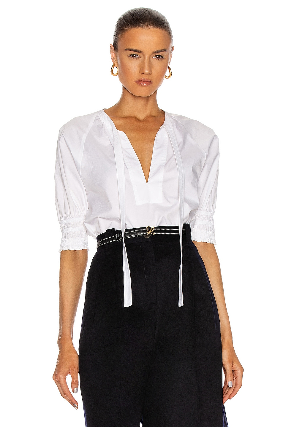 Image 1 of A.L.C. Eliya Top in White