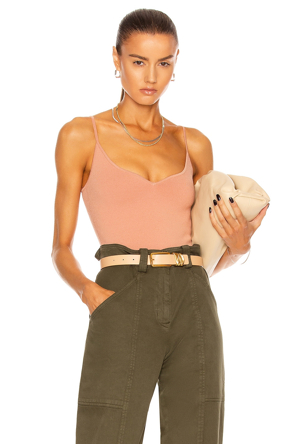 Image 1 of A.L.C. Shana Bodysuit in Dusty Coral